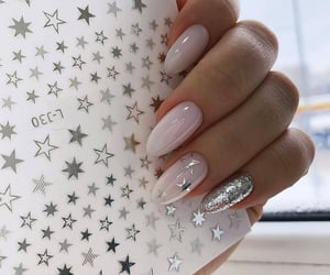 nails, stars, and manicure image