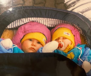 babys, lovely, and twins image
