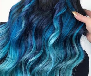 beauty, blue, and blue hair image