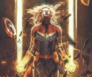 Avengers, captain marvel, and Marvel image