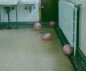 balloons, bathroom, and grunge image
