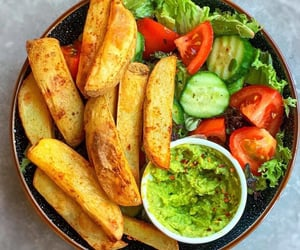 salad, food, and fries image