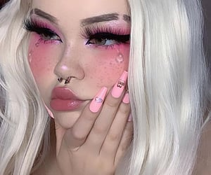 aesthetic, girls, and makeup image