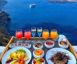 Greece, breakfast, and sea image