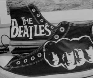 the beatles, converse, and all star image