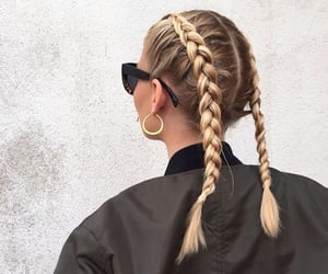 braid, girl, and fashion image