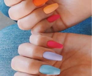 nails, colorful, and pastel image