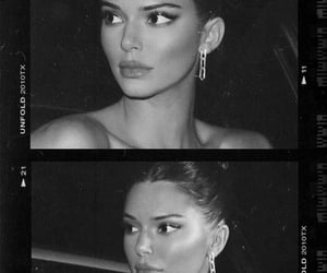 kendall jenner, black and white, and aesthetic image