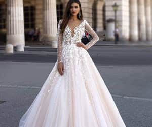 ball gown, dress, and wedding image