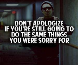 apologize, quote, and sorry image