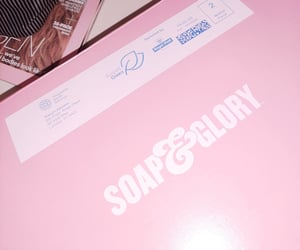 parcel, pastel pink, and soap and glory image