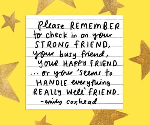 friends, quotes, and yellow image