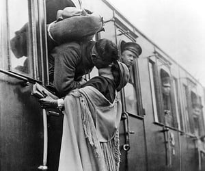 love, black and white, and war image