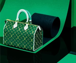 bags, editorial, and green image