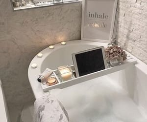aesthetic, bath, and marble image