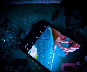 aesthetic, azul, and celular image