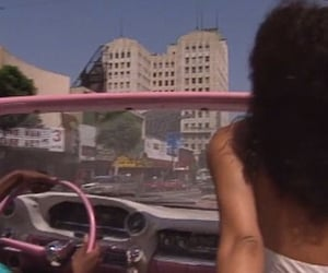 car, 90s, and pink image