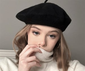 beauty, beret, and fashion image