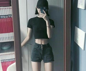 skinny, ulzzang body, and thigh gap image