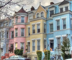 house, pastel, and pink image