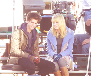 cute couple, emma stone, and andrew garfield image