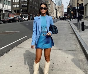 blue, fashion, and street style image