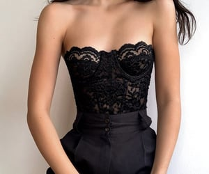 black, classic, and corset image