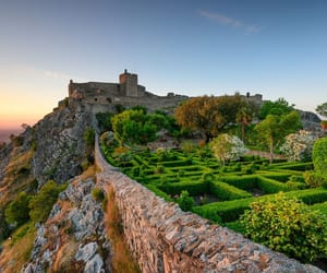 castle, portugal, and ruins image