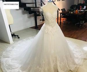 bridal, rhinestone, and weddingdress image