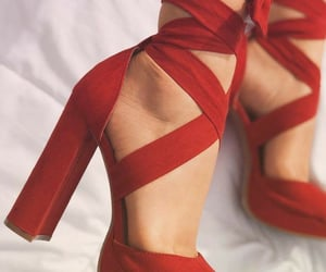heels, red, and high heels image