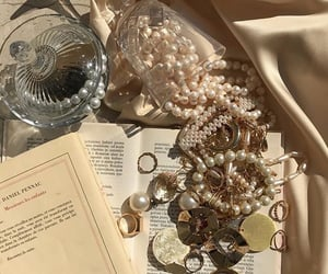 aesthetic, books, and gold image