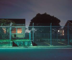 night, green, and grunge image