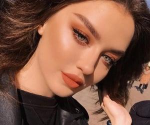 eyeshadow, girl, and lips image