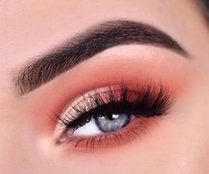 eyeshadow, girl, and mascara image