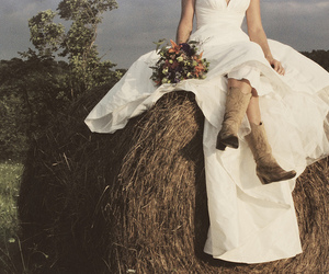 bride, country, and hay image