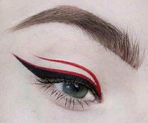 eyes, make, and makeup image