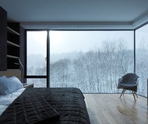 winter, bedroom, and interior image