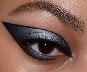 brown eyes, eyes, and eye liner image