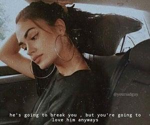 breaking, girl, and sad image
