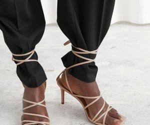 ankle strap, brown, and minimal image