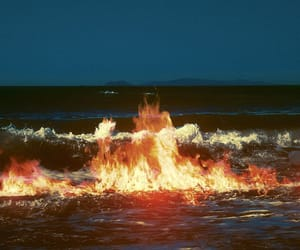 fire, water, and aesthetic image