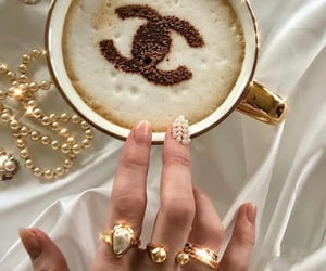 coffee, chanel, and nails image