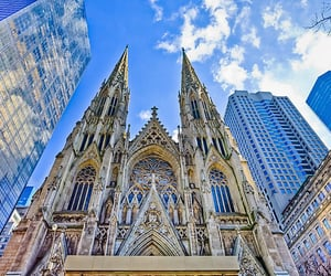 cathedral, saint patrick, and manhattan image