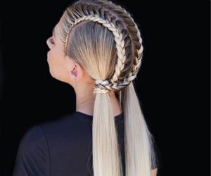 chicas, girl, and trenzas image