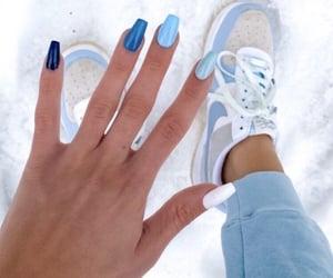 acrylics, girly, and nail design image