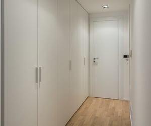 apartment, closet, and corridor image
