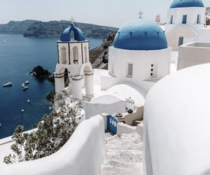 places, blue, and Greece image