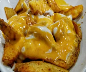 awesome, eat, and cheese fries image