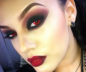 Halloween, vampire, and makeup junkie image
