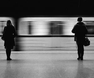 black and white, train, and b&w image